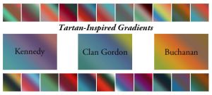 Tartan-Inspired Gradients by cazcastalla