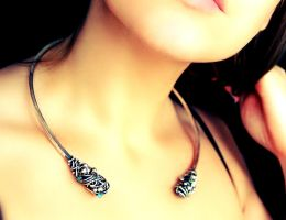 Necklace by honeypunk