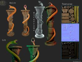 Barbarian Snake Column by Redecorator
