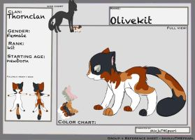 (TcotV) .: Olivekit ref sheet NEW :. by TheClansOf-TheValley