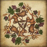 3 Hares Lughnassadh by pebblepixie