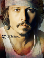 Johnny Depp Digital Painting by perlaque
