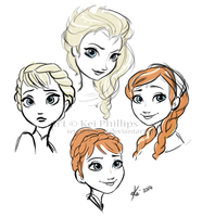 Frozen Sketches by kinkei