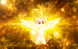 Twilicorn Is On Fire Wallpaper by MLArtSpecter