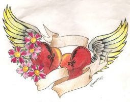 Hearts with wings by EastcoastFreakgirl