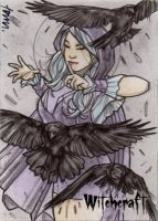 Witchcraft Sketch Card - Andre Toma 1 by Pernastudios