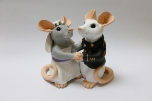 Custom Rat Wedding Cake Topper by philosophyfox