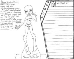 Monster High Bases - Paper Doll and Journal by MeganEliMoon