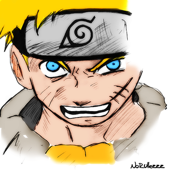 Naruto Digital Paint by NoRullezzz