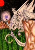 the white dragon of the forest by Suenta-DeathGod