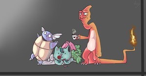 KANTO STARTERS UNITED by Blue-Dragons-Fan