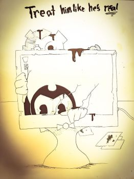 Bendy and the Computer Screen  by noahdraws12