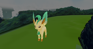 Leafeon + DL by Valforwing