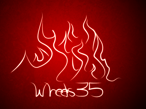 Flames and Name by Wheels35