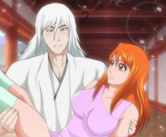 Bleach Orihime Inoque Joshiro Ukitake Pairing Requ by Mr123GOKU123
