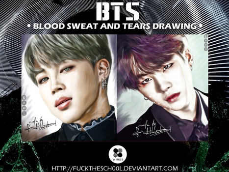 BTS DRAWING by Fuckthesch00l