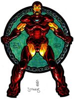 Iron Man: Circle of Chain in Color by EJJS