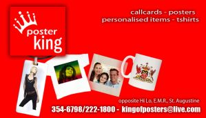 Poster King Call Card by greatwuff