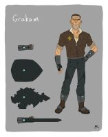 Injection character design- Graham by AndrewKwan