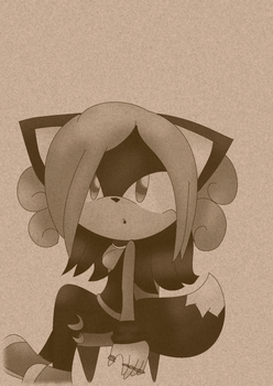 Sepia picture of my new character kakkoi by shimmerkitten12