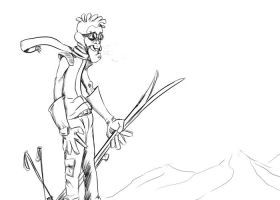 Daily Sketch: Ski Dude by Hunchy