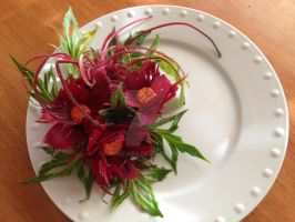 Violet Red Beetroot Bouquet by Chuncarv