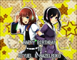 Happy Birthday to Riyu and Haze! by TerrainAKKA