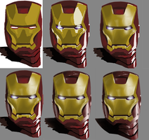 Iron Man - Progression by tkc-art