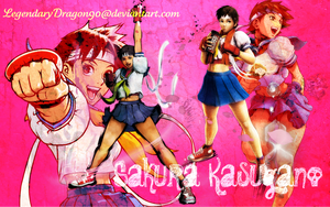 Sakura Kasugano Wallpaper by LegendaryDragon90