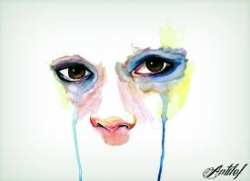 Watercolor tears 02 by Antilef