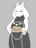 Toriel's Face After Her Putting up With Your Bull by RookCookNook