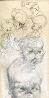 Silverpoint Babies by ChloeC