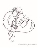 Sesshomaru in Line Art by LordMaru4U