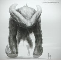 Bare Backed Bog Beast by NateHallinanArt