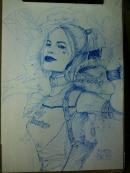 Suicide Squad Fan art with PEN by LAMCREATIVITY