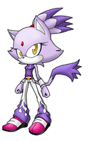 Blaze the Cat by LancerWolf13