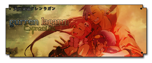 Gurren Lagann Sign by UchihaTheDead