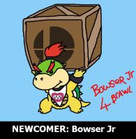 Bowser jr 4 brawl by Mykthecartoonist