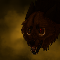 Bloodwolf Snarly Icon - Gift by lucidcoyote