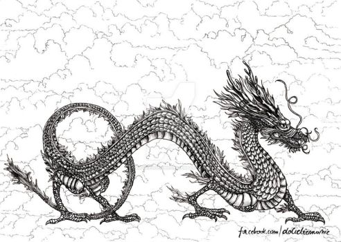 Chinese dragon by mowiedoCiebie