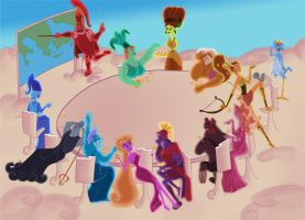 Disney Hercules gods: The Thirteen Olympians by Zdzichu476