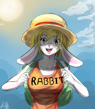Carrot In Straw Hat (requested) by lukesChillArt666
