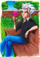 Hitsugaya-Ice Cream Summer Day by Dwellin