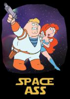 Family Guy- Space Ass by karcreat