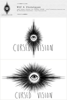 CURSED VISION Logo WIP + Prototypes (Commission) by beyourpet