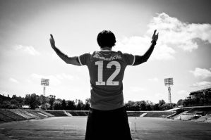 Lonely Player in Empty Stadium 1 by KristeLynx