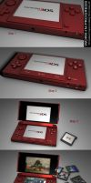 WIP - 3D Nintendo 3DS by 100SeedlessPenguins
