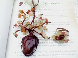 Carnelian tree and ring by Mirtus63