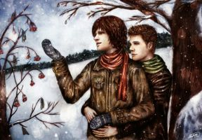Winter sun - Dean/Sam by Solmaro