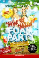 Foam Party Flyer by AnotherBcreation